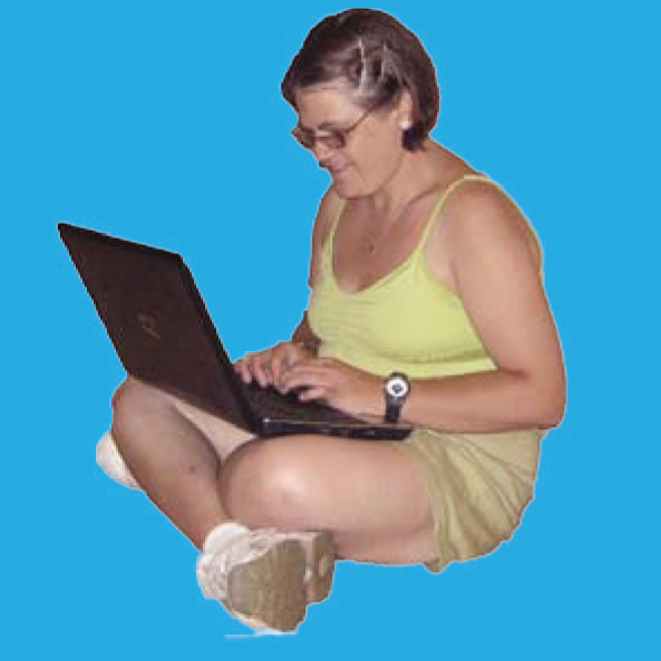 Participant on laptop