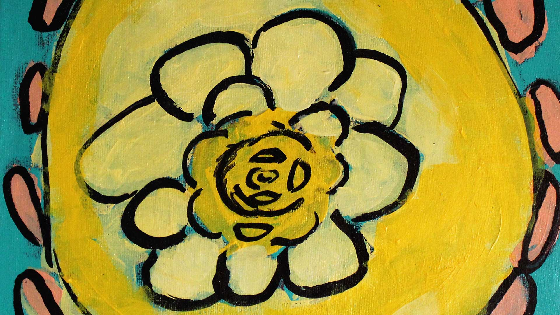 Acrylic painting of flower