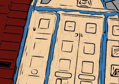 Toonpaint of Kingston heritage door